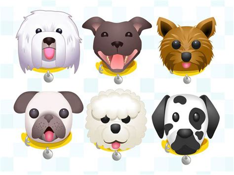 dog adoption emojis dog keyboard