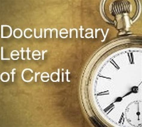Documentary Credit Letter Standby Letter Of Credit Sle Standby Letter Of Credit