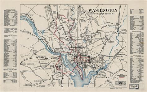 district of columbia on map large scale map of washington district of columbia