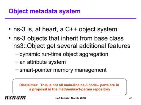 ns3 tutorial exles tutorial ns 3 tutorial slides
