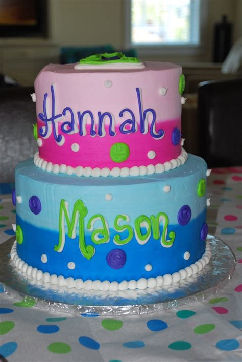birthday themes for boy and girl boy girl twins first birthday cake google search party