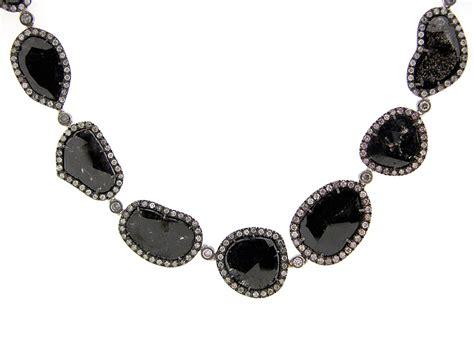 Wst 11021 Chain Necklace Black dilamani jewelry black slice necklace