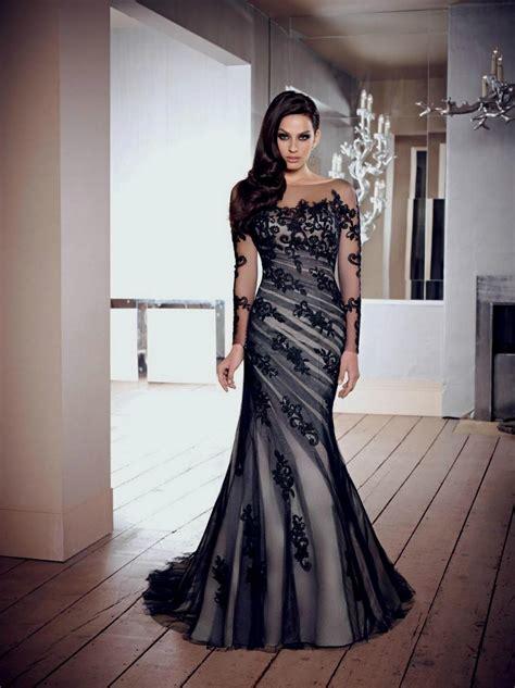 Wedding Dress Back by Black Wedding Dresses With Lace Sleeves Naf Dresses