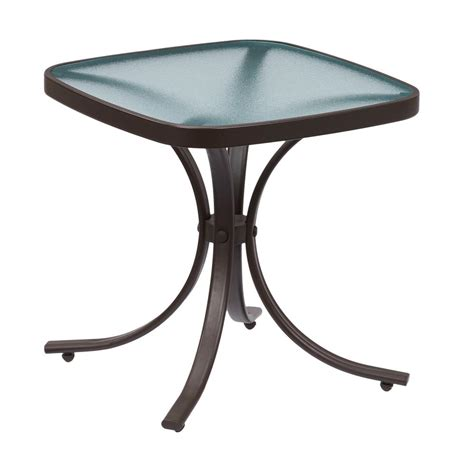 metal outdoor side table hton bay mix and match square metal outdoor side table