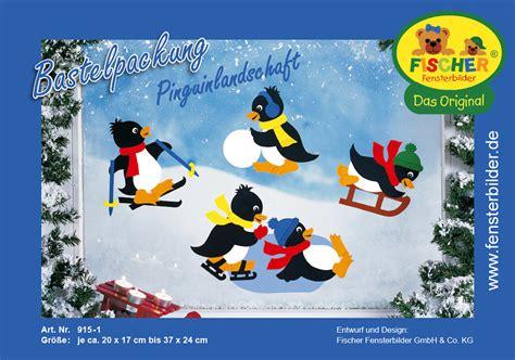 Fensterbilder Weihnachten Basteln Papier Vorlagen by Fensterbild Pinguinlandschaft Fischer Fensterbilder