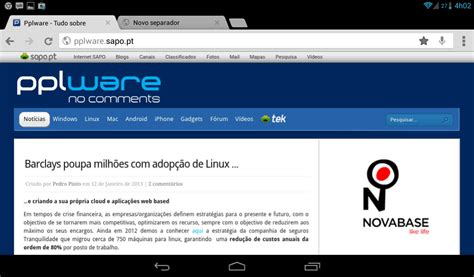 chrome beta android lan 231 ou chrome beta para android pplware