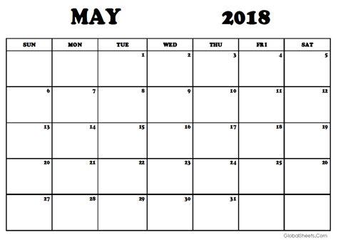 free may calendar template may 2018 calendar template printable