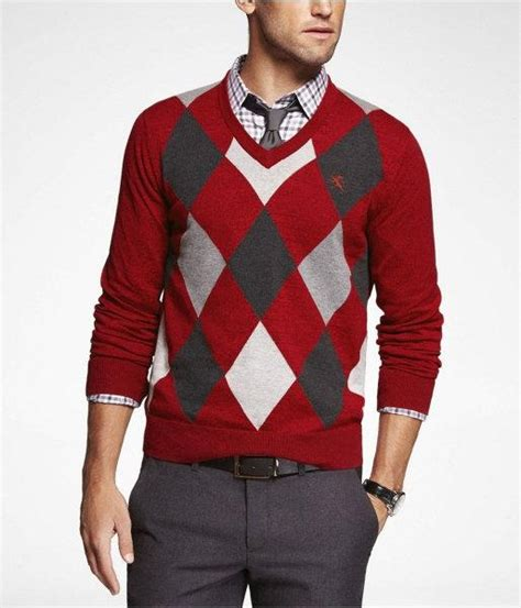 Sweater Rajut Cotton Cardigan Pria 44 express mens argyle cotton vneck sweater tempest x large style