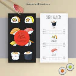sushi menu template vector free