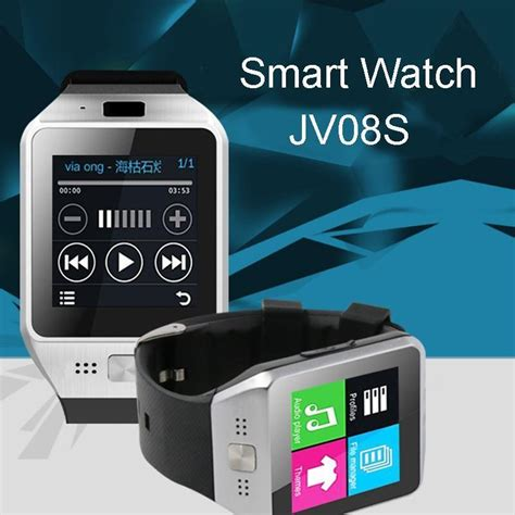 jv08s bluetooth smart smartwatch phone mate gsm sim card for android ios samsung