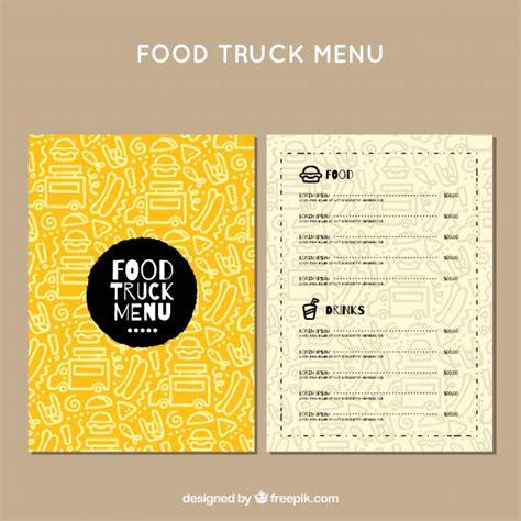 cover layout of table d hote men 250 de food truck con patr 243 n dibujado a mano descargar