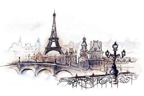 Hipster Bedroom art city draw drawing eiffel tower france