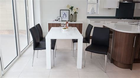 White High Gloss Extending Dining Table And Chairs Uk White Extending Dining Table