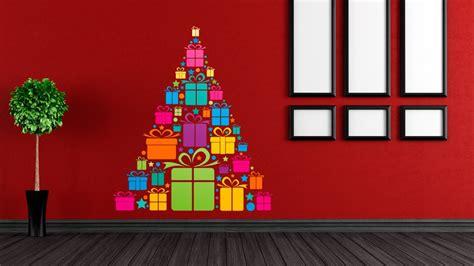 arbol navidad pared la decoracin de navidad en una casa