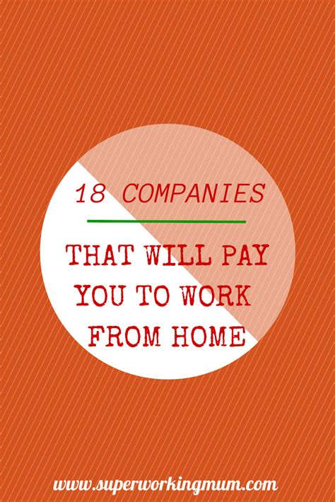 18 companies that will pay you to work from home