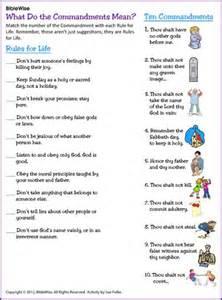 Ten commandments matching kids korner biblewise