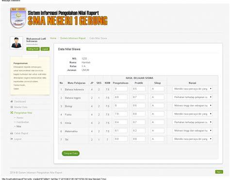 membuat web nilai online sistem informasi pengolahan nilai raport berbasis web