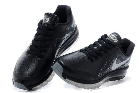 nike black leather shoes