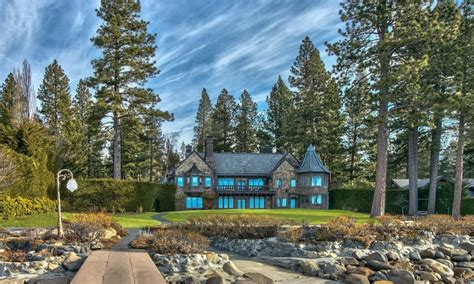 tahoe castle the castle on lake tahoe on the market for 26m on the