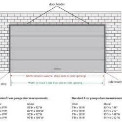 Garage Door Width 2 Car Garage Door Dimensions Standard Wageuzi