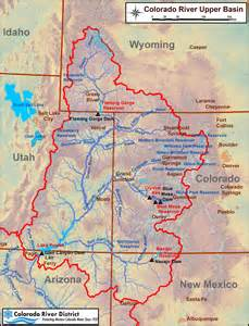 colorado river map colorado river map with states
