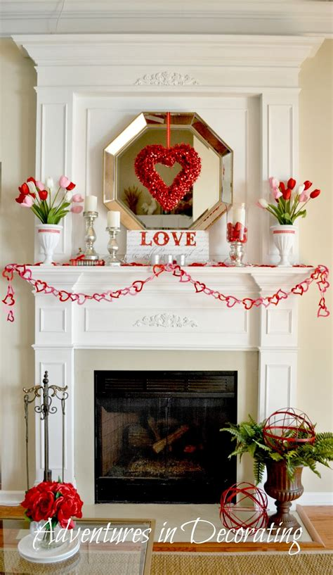 adventures in decorating our valentine mantel