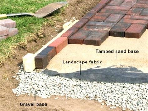 diy landscape fabric brick edge restraint landscape edging