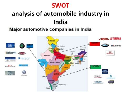 Indian Industry swot analysis of automobile industry in india