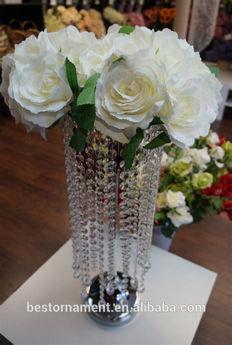 acrylic table top chandelier centerpieces for wedding