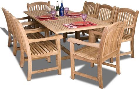 9 pc patio dining set amazonia teak newcastle 9pc teak outdoor patio dining set