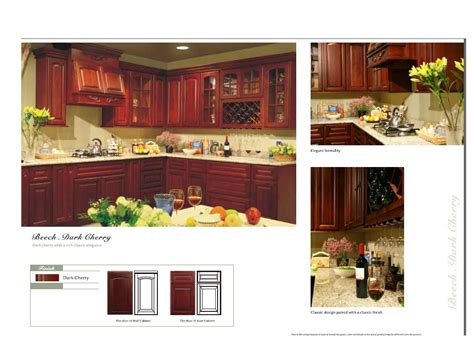 kitchen cabinets catalog beech dark cherry color arched door kitchen cabinets catalog