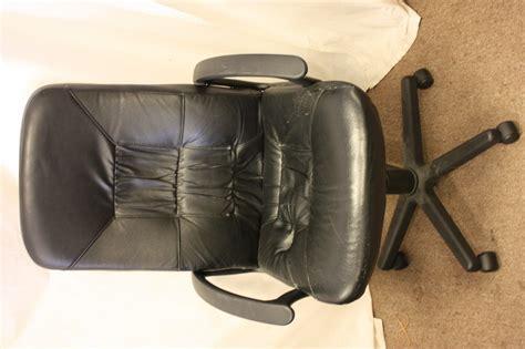 ikea black leather chair ikea allak black leather swivel office chair ebay