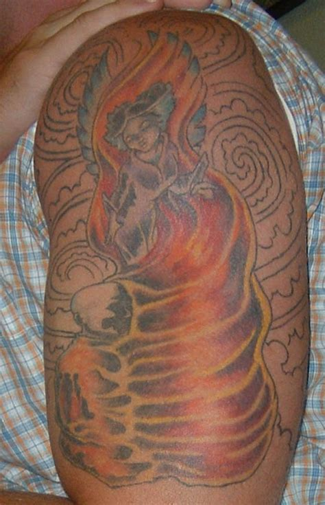 burning monk tattoo tattoo collections
