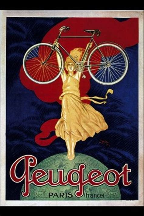 vintage french cycling poster peugeot
