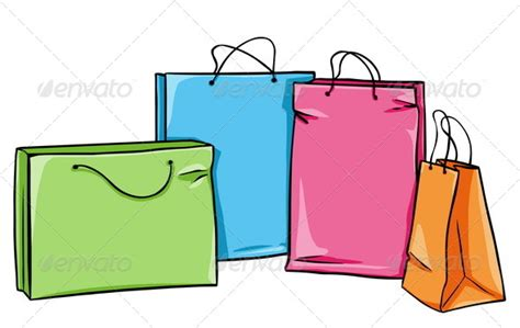 shopping bags vector shopping bags graphicriver