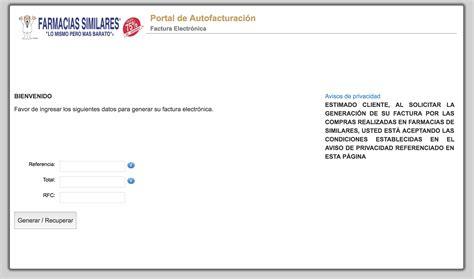 Generar Referencia Para Replaqueo 2016 Cd Juarez   farmacias similares facturaci 243 n de tickets