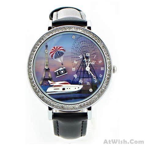 yacht watch yacht eiffel tower ferris wheel rhinestone trim watch