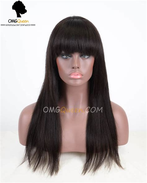 Hairstyle Wigs With Bangs by Hairstyles Silky Lace Wigs
