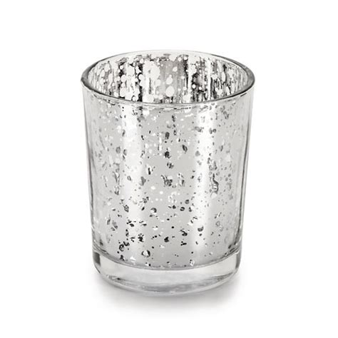 Glass Votives Wedding Votives Silver Mercury Glass Votives