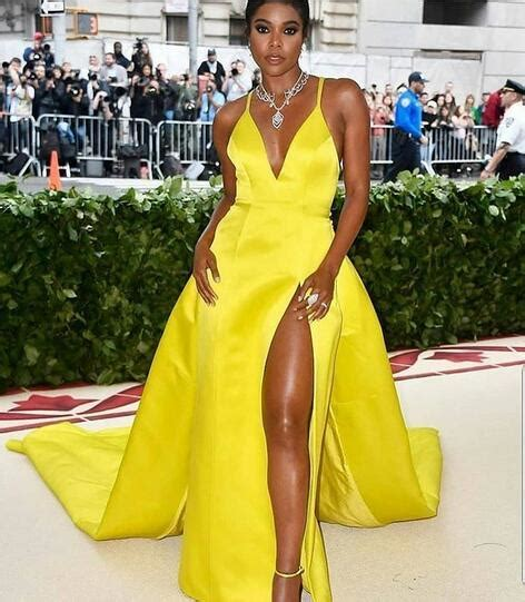 simple yellow   prom dresses sexy deep  neck african