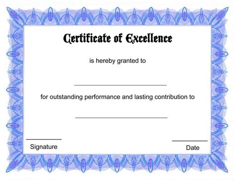 free attendance certificate template certificate of attendance template free