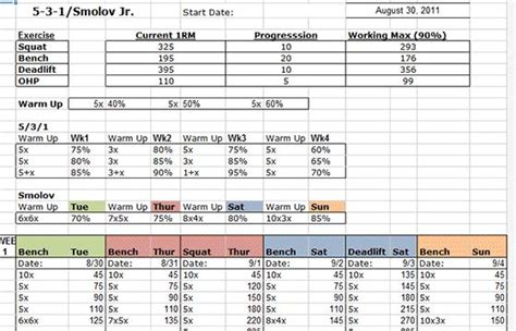 smolov bench program smolov jr 531 excel spreadsheet nu est jr