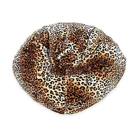 leopard skin bean bag buy fur leopard print bean bag from bed bath beyond