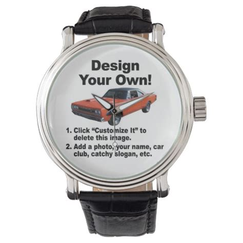 design your own watch design your own wrist watches zazzle