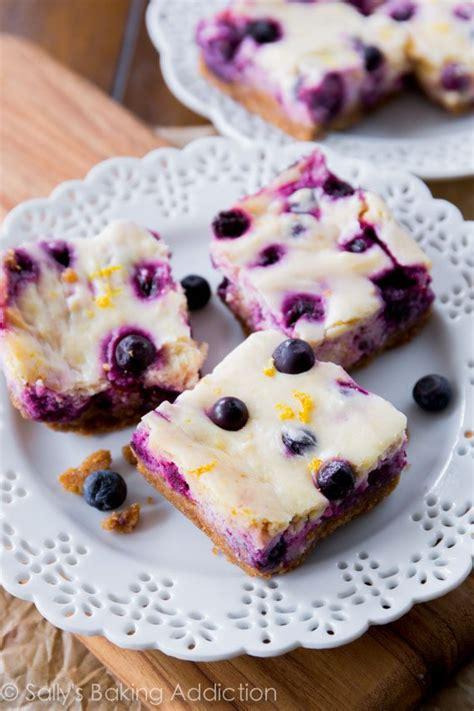 lemon blueberry cheesecake bars sallys baking addiction