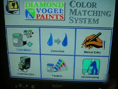 paint matching system x rite cfs58 matchrite digital spectrometer pc paint