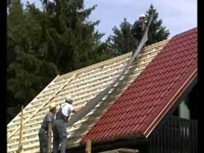 dach selber decken stahl dachdecken