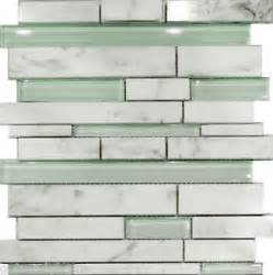 sle carrara white marble mint glass random linear