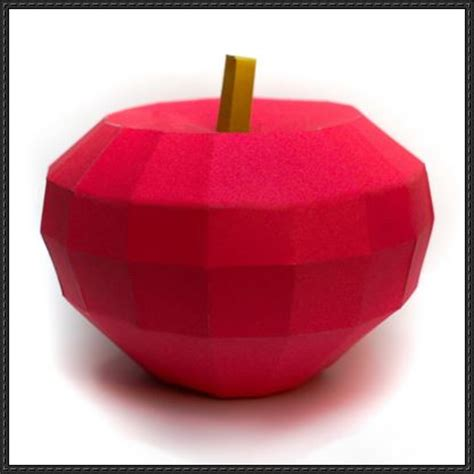 Apple Papercraft - fruit papercraft apple free template