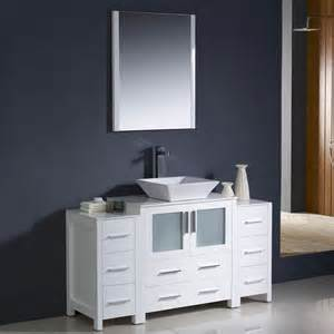 54 bathroom vanity sink shop fresca bari white single vessel sink bathroom vanity